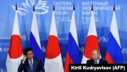 Синдзо Абэ и Владимир Путин, Владивосток, 10 сентября 2018 года