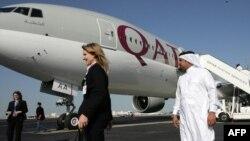 A Qatar Airways-ի օդանավը Դոհայի օդանավակայանում, արխիվ