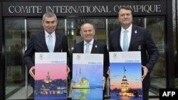 Члены турецкой делегации подают на проведение Олимпийских игр-2020. Лозанна, 7 января 2013 года.