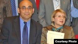Азербайджанские гражданские активисты Лейла и Ариф Юнус.