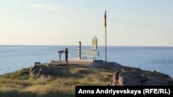 Пограничный пост Украины на острове Змеиный