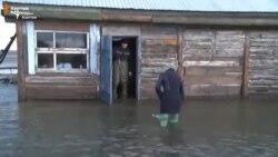 Паводки в селе на севере Казахстана