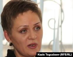 Салтанат Аханованың адвокаты Елена Кубашева. Алматы, 1 қараша 2011 жыл