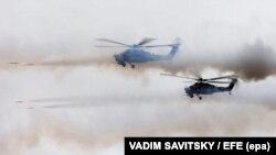 Вертолеты на учениях «Запад-2017»