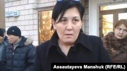 Гражданская активистка Дильнар Инсенова. Алматы, 28 ноября 2013 года.