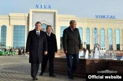 Президент Шавкат Мирзияев на родине танца «Лазги» – городе Хиве.