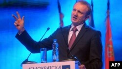 Dragan Đilas nakon stranačkog sastanka, novembar 2012.