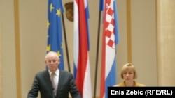 Uri Rosenthal i Vesna Pusić u Zagrebu, 5. ožujak 2012.