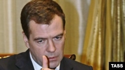 Russian President Dmitry Medvedev speaking to the French weekly Paris Match.