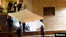 Место нападения у исламского центра в Цюрихе, 19 декабря 2016 года, Швейцария.