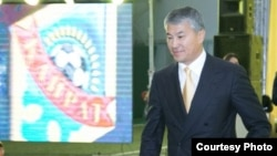 Кайрат Боранбаев на мероприятии в футбольном клубе «Кайрат». Алматы, 19 ноября 2015 года.