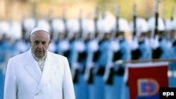Папа Франциск під час візиту до Туреччини, фото 28 листопада 2014 року