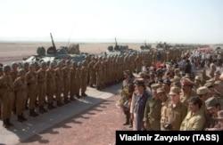 Soviet troops in Afghanistan in 1988.