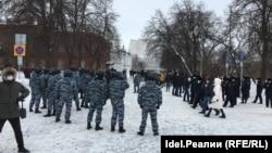Акция протеста в Ульяновске 31 января