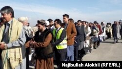 Afghans from Loya Paktia traveling to Iran. Under the new ban, applications for new employment and visit visas have been suspended for 13 mostly Muslim countries. (file photo)