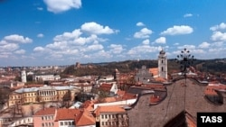 Вид на старый Вильнюс, Литва