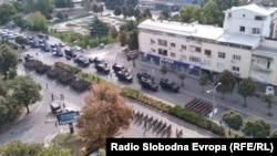 Во центарот на Скопје генералната проба за централната прослава што треба да се одржи на 8 Септември – Денот на независноста, по повод 30 години независност на државата.