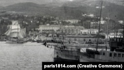 Ships in Yalta during the evacuation in November 1920. The order to evacuate was given on November 13, 1920.