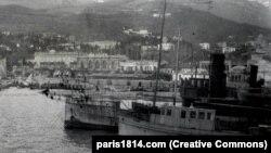 Jaltai hajók 1920 novemberében. 150 ezer ember evakuálását hajtották végre a Krímből a Vrangel báró vezetésével, a parancs november 13-án született meg.