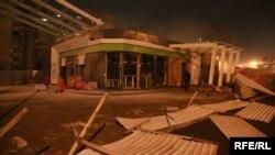 Разрушенная АЗС (архивное фото)