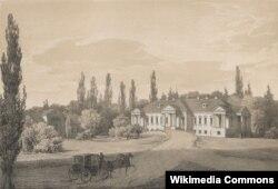 Напалеон Орда. Палац Скірмунтаў у Моладаве. 1875