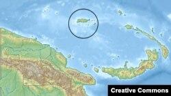 جزیره مانوس در شمال پاپوآ گینهنو قرار دارد