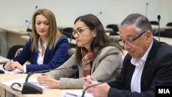 """Архивска фотографија - Поранешната министерка за внатрешни работи Гордана Јанкулоска на едно од рочиштата за случајот """"Тенк"""""""