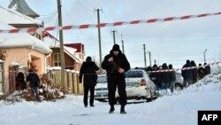 Місце, де загинули поліцейські в селі Княжичі Київської області, 4 грудня 2016 року