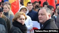 Moldova, Liderii Partidiului Socialiștilor Zinaida Greceanîi și Igor Dodon