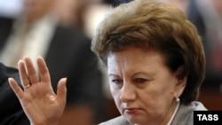 Zinaida Greceanîi în timpul primei încercări nereuşite de a fi aleasă şef al statului, 20 mai 2009