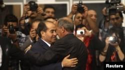 Ливиядағы билікті тапсыру салтанатынан көрініс. Триполи, 8 тамыз 2012 жыл.