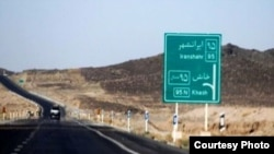 A road sign shows the way to the city of Khash in Sistan-Baluchestan Province (file photo).
