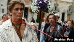 Львівський театр імені Леся Курбаса відкрив новий сезон акцією протесту, 12 серпня 2011 року