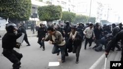 احدى مظاهرات ثورة الياسمين في 2011