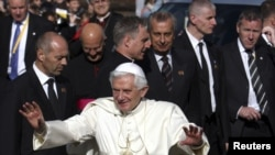 On his visit to the U.K., Pope Benedict XVI delivers a religious message on the BBC Radio.