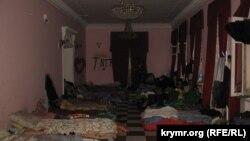 Так выглядит лагерь Крымской сотни Майдана в Октябрьском дворце