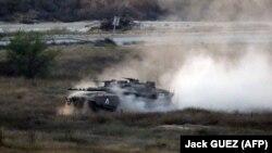 تانک ارتش اسرائیل در مرز باریکه غزه