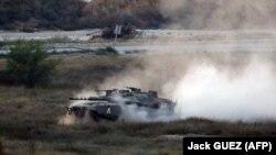 آرشیف، تانک نیروهای اسراییل در نوار غزه