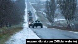 Exerciții militare ale Grupului operativ de trupe ruse din stânga Nistrului, la Cobasna