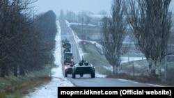 """Militari de la Grupul Operativ al Trupelor Ruse în timpul exerciţiilor """"contra terorismului"""""""