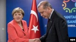 Գերմանիայի կանցլեր Անգելա Մերկելն ու Թուրքիայի նախագահ Ռեջեփ Էրդողանը, արխիվ