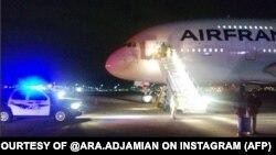 ԱՄՆ - Air France-ի օդանավը Սոլթ Լեյք Սիթիի օդանավակայանում, 17-ը նոյեմբերի, 2015թ․