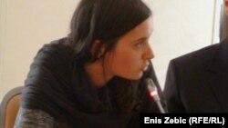 Ines Tanović na skupu u Zagrebu, foto: Enis Zebić