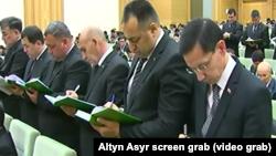 Turkmenistan. Meeting of state workers. Deputies. Altyn Asyr state TV May 8, 2018
