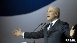 Boris Tadić prilikom nedavnog obeležavanja 20. godina od osnivanja Demokratske stranke, februar 2010, foto Vena Anđić
