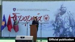Presidentja në largim e Kosovës, Atifete Jahjaga.