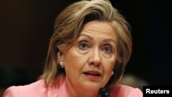 U.S. Secretary of State Hillary Clinton testifies before the Senate Foreign Relations Committe.