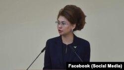 Аида Балаева, Қазақстан ақпарат және қоғамдық даму министрі (Сурет Facebook парақшасынан алынды).