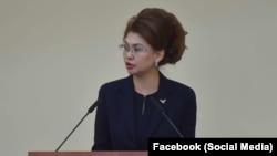 Ақпарат және қоғамдық даму министрі Аида Балаева.