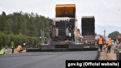 Строительство дороги Балыкчи-Корумду. 15 июля 2019 года.
